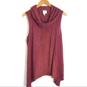 3/$25 Knox Rose Cowl Neck Top Size XL